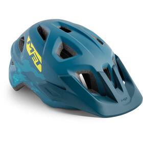 MET Eldar Cykelhjelm Børn, petrol blue camo